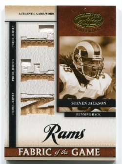 2008 Leaf Certified Steven Jackson Fabric of the Game Patch