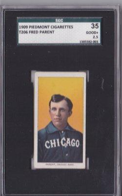 1909  T206 Fred Parent  Piedmont 150
