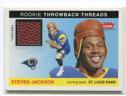 2004 Fleer Tradition Steven Jackson Rookie Throwback Threads