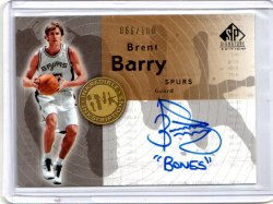 2005 Upper Deck SP Signature Edition Brent Barry InkCredible