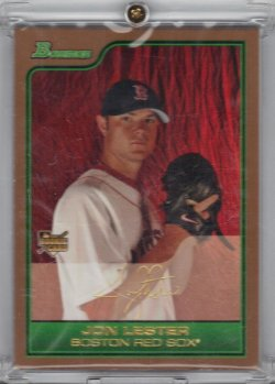 2006 Bowman Draft Picks & Prospects Jon Lester RC Gold