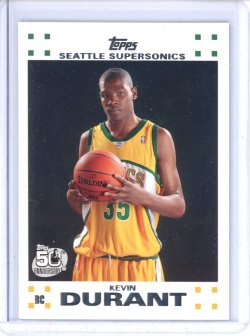 2007-08 Topps  Kevin Durant Topps Rookie Set