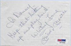 Mantle - Ford Autograph PSA/DNA