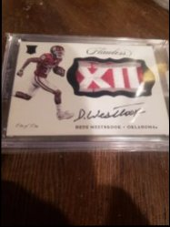 2017 Panini Flawless  Dede Westbrook flawless big 12 patch auto 1/1