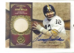2011 Topps Five Star Veteran Autographs Gold Terry Bradshaw