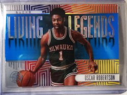 2019 Panini illusions Oscar Robertson Living Legends sapphire