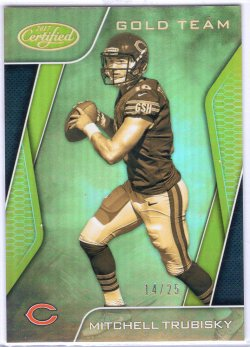 2017 Panini Certified Mitchell Trubisky Gold Team Gold
