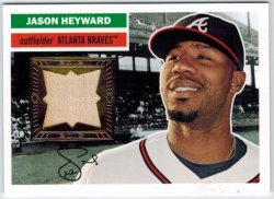 2012 Topps Heritage Clubhouse Collection Relic Jason Heyward