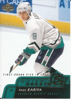 2007 Upper Deck Gifted Greats Paul Kariya