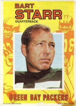1968 Topps Football Pinups #10 Bart Starr