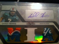 2008 Topps Triple Threads Chad Henne /3