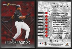 1998  Pinnacle Performers Big Bang Seasonal Outburst Frank Thomas