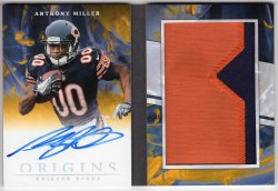 2018 Panini Origins Anthony Miller Rookie Booklet Patch Auto Gold