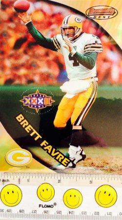 1997  Donruss Bowmans Best Refractor Brett Favre (4 x 5 1/2)