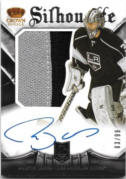 2013-14 Panini Crown Royale Silhouette Autographs Martin Jones