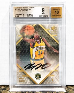 2007 Upper Deck SP Rookie Edition Kevin Durant Auto BGS 9