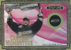 2019/20 Upper Deck Stature Century Momentous Red Selanne