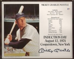 Mickey Mantle Autograph (from QVC)