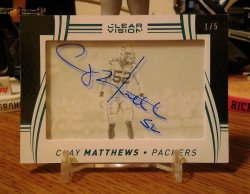 2016 Panini Clear Vision Signatures Green Clay Matthews