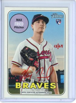 2018 Topps Heritage Max Fried Real One Autographs Red Ink
