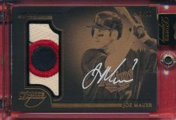 2014 Topps Dynasty Joe Mauer Auto Jumbo Patch