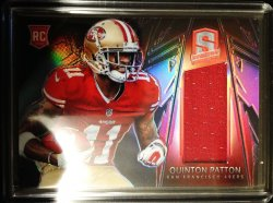 2013 Panini SPECTRA JUMBO JERSEY  RED REFRACTOR  QUINTON PATTON