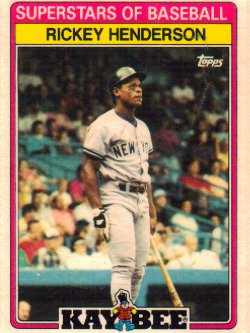 1989 Topps Kaybee Rickey Henderson
