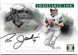 2017 Panini Impeccable Indelible Ink Silver Ron Jaworski