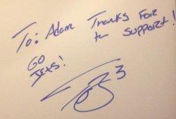 Tajh Boyd Signed Card