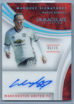 2017-18 Panini Immaculate Soccer Wayne Rooney Marquee Signatures Autograph