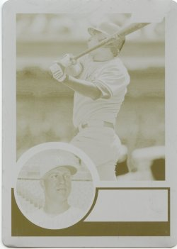 2015 Topps Archives Mark Teixeira Printing Plate Yellow