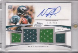 2012 Topps Prime Auto Relics Level 5 Nick Foles