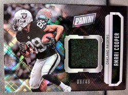 2016 Panini The National Amari Cooper Hyper Plaid Relic Parallel