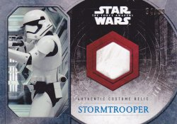 2015  Star Wars The Force Awakens Series One First Order Stormtrooper Costume Relics Stormtrooper