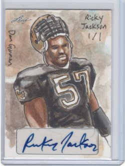 2013 Leaf Masterworks Rickey Jackson Hand Drawn Sketch Card