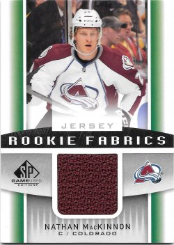 2013-14 Upper Deck SP Game Used Rookie Fabrics Nathan MacKinnon