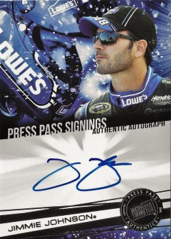 2013 Press Pass Signings Jimmie Johnson