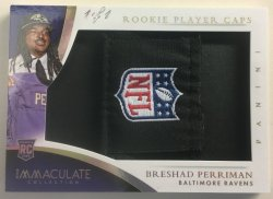 2015 Panini Immaculate Breshad Perriman NFL Logo Hat Patch