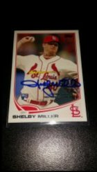 2013 Topps Update Shelby Miller RC IP Auto