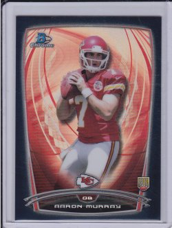 Aaron Murray 2014 Bowman Chrome Black Refractor RC /299