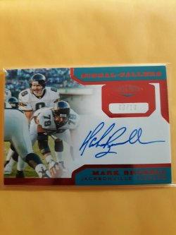 2019 Panini Plates and Patches Signal Callers Red  Brunell