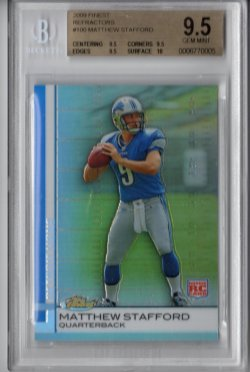 2009 Topps Finest Matthew Stafford