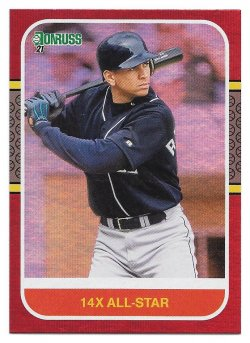 2021 Panini Donruss Variations Holo Red Alex Rodriguez (Retro - 14x All-Star)