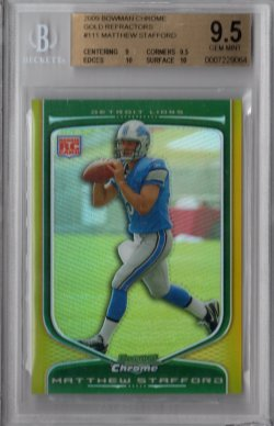 2009 Bowman Chrome Matthew Stafford
