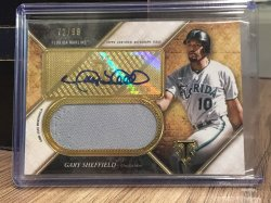 2017 Topps Triple Threads Gary Sheffield Patch/Auto