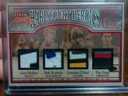 2004-05 Fleer Sweet Sigs C.Webber/D.Nowitzki/J.ONeal/P.Gasol Hardcourt Heroics Quad Patch #29/33