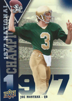 2013 Upper Deck Notre Dame National Champions Joe Montana