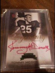 2008 Press Pass Legends  Tommy McDonald 2008 press pass legends red ink auto