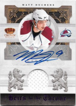 2010-11 Panini Crown Royale Heirs to the Throne Materials Autographs Matt Duchene