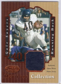 2000 Leaf Certified Gale Sayers Heritage Collection Jersey